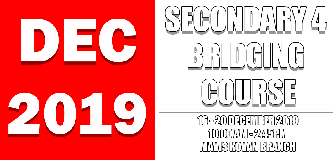 SECONDARY 4 (2020) BRIDGING COURSE